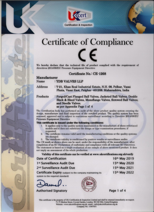 ISO Certified Valves